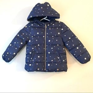 Old Navy frost free hooded puffer jacket 5T